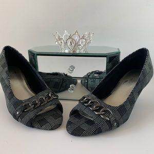 Black Plaid Heels